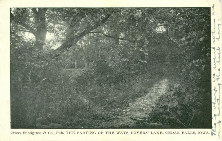 Lovers Lane, Cedar Falls, Iowa, 1908.