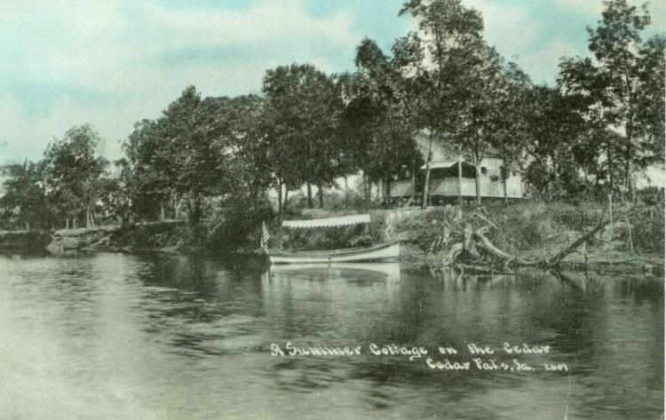 Summer cottage on the Cedar River, Cedar Falls, Iowa.