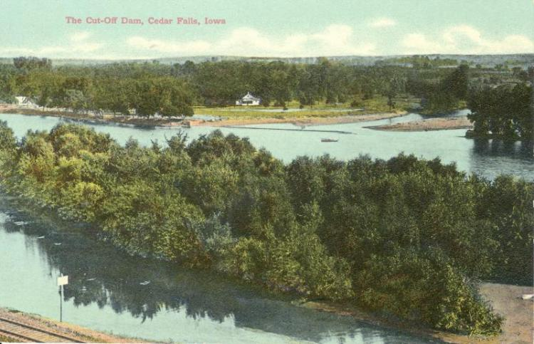 The cut-off dam, Cedar Falls, Iowa