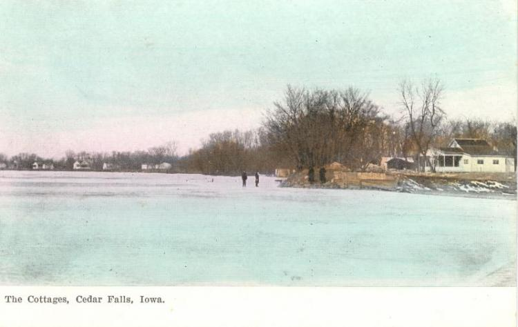 Cottage Row, Cedar Falls, Iowa, in the winter.
