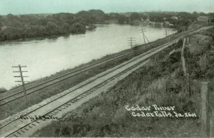 Cedar River, Cedar Falls, Iowa.