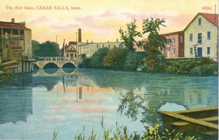 The Mill Race, Cedar River, Cedar Falls, Iowa.