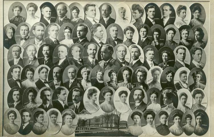 Iowa State Teachers College Faculty, 1910.