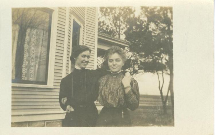 Sybil Lincoln, left, and Hazel Butterfield, right.