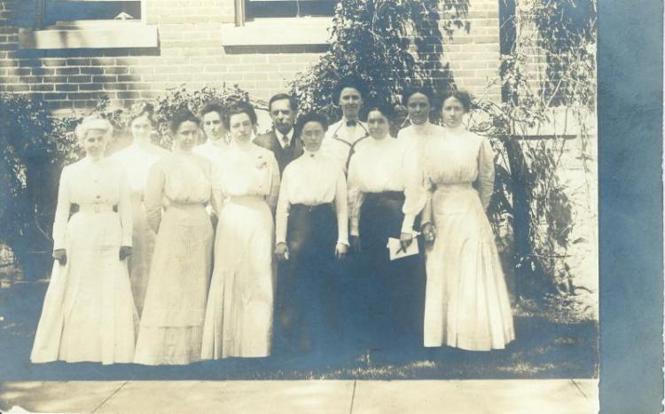 Training School staff, about 1910.