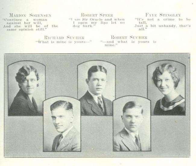 Cedar Falls High School yearbook, 1929.