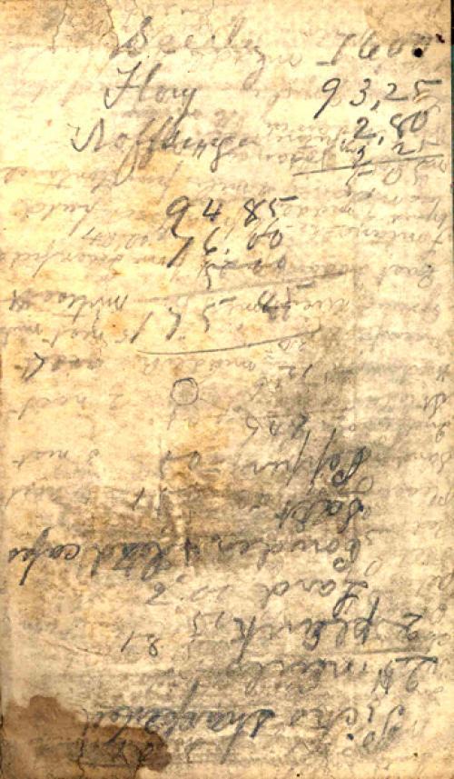 Seerley journal, inside back cover