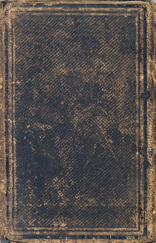 Seerley journal, outside back cover