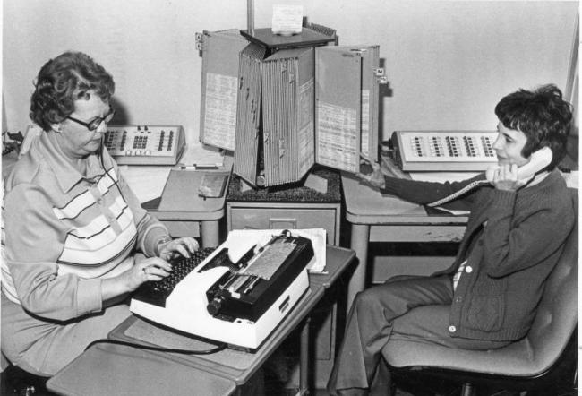 The telephone operation after its move to the Security Office, July 1978.