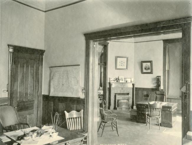 The President's Office, with a wall telephone in the background