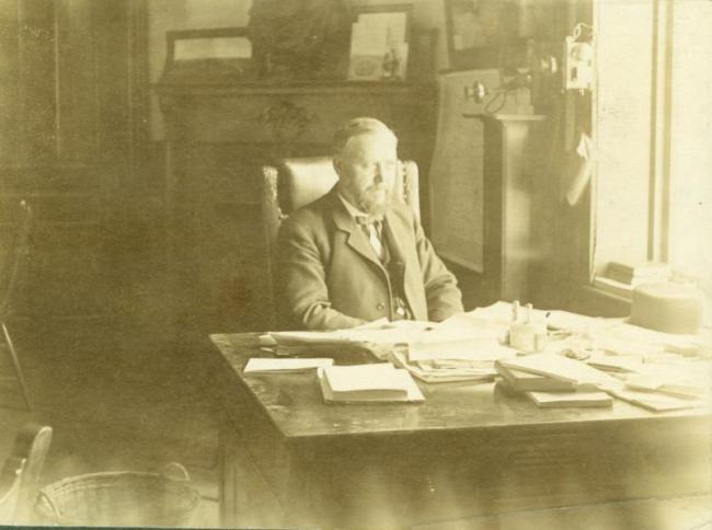 President Seerley at his desk