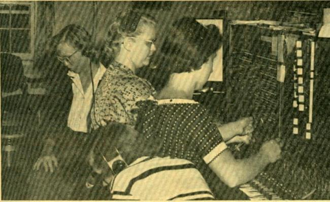The college switchboard, 1957