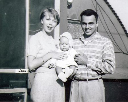 Betty and James Paglia, with their daughter Elizabeth, 1957.