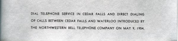 Northwesterm Bell dial service announcement