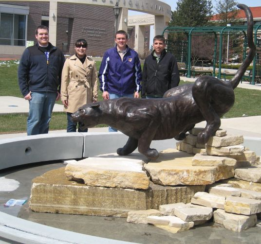 Class of 2006 Gift Committee with completed Panther sculpture.