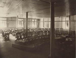 1908 Industrial Arts clasroom.