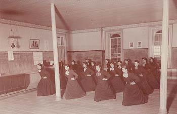 Women's physical culture class, 1891.