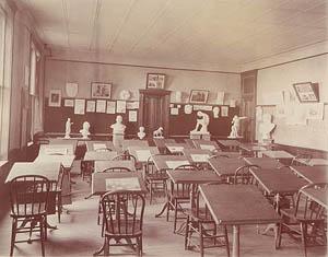 Art classroom, 1893.