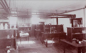 Chemical laboratory, 1891.