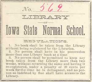Normal School bookplate