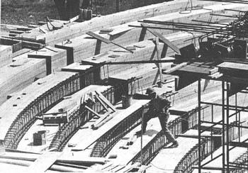 Auditorium seating construction