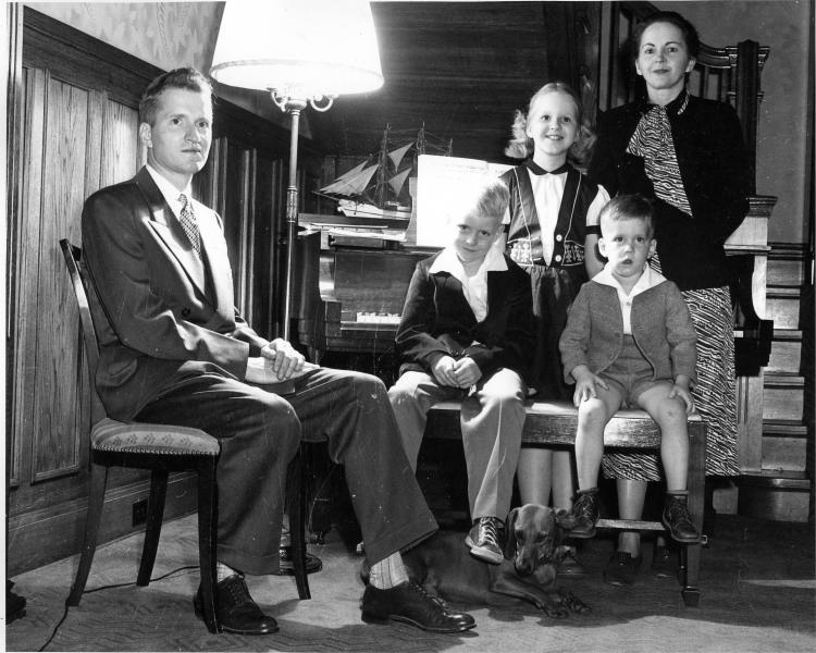 The Maucker family, 1950.