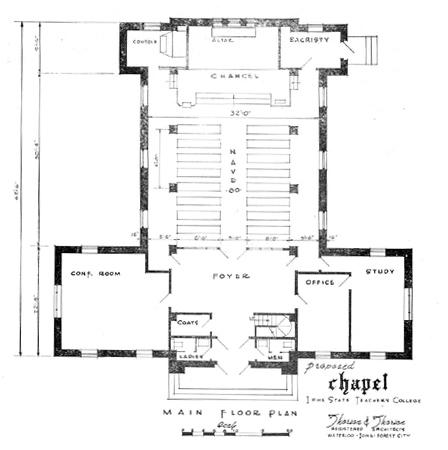 Chapel floor plan