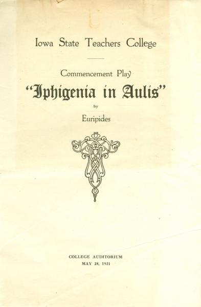 Iphigenia in Aulis program, 1921