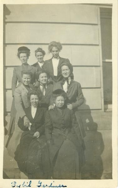 Classmates of Sybil Lincoln, about 1910.