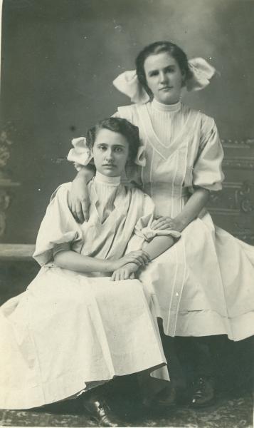 Hazel Shillinglaw and Gladys Ganley