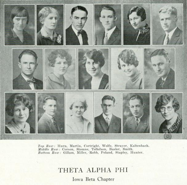 Theta Alpha Phi, 1927