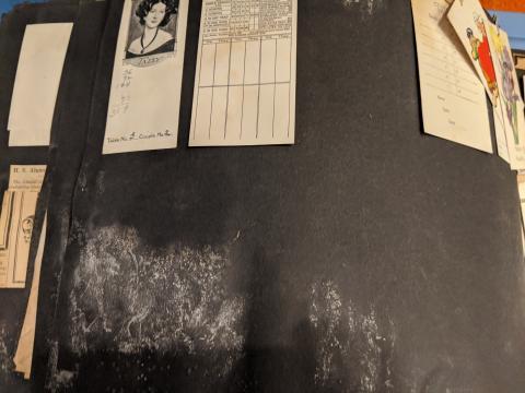Inactive Mold in Lucille Beman's Scrapbook